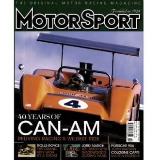 Product image for September 2006   40 Years Of Can-Am   Motor Sport Magazine