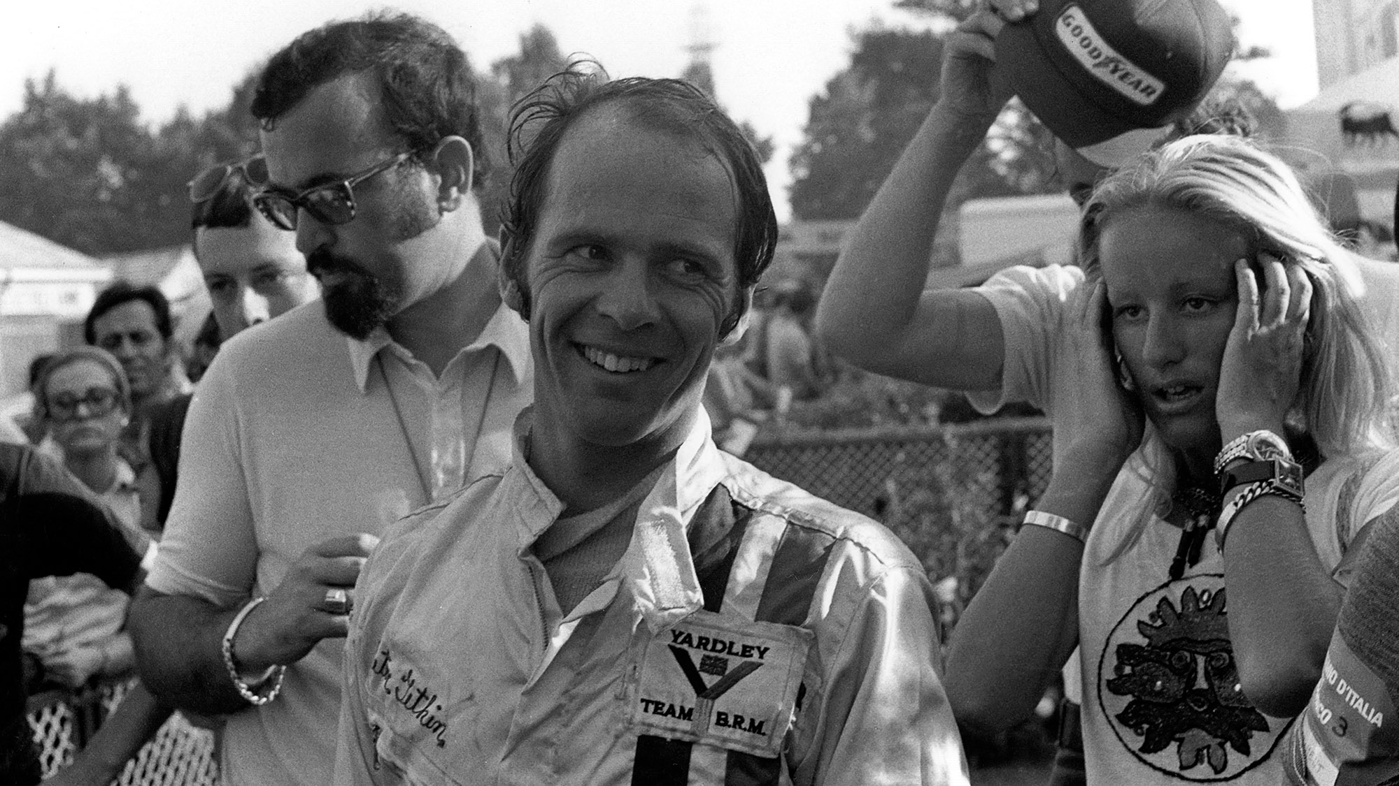 Peter Gethin after winning the 1971 Italian Grand Prix at Monza