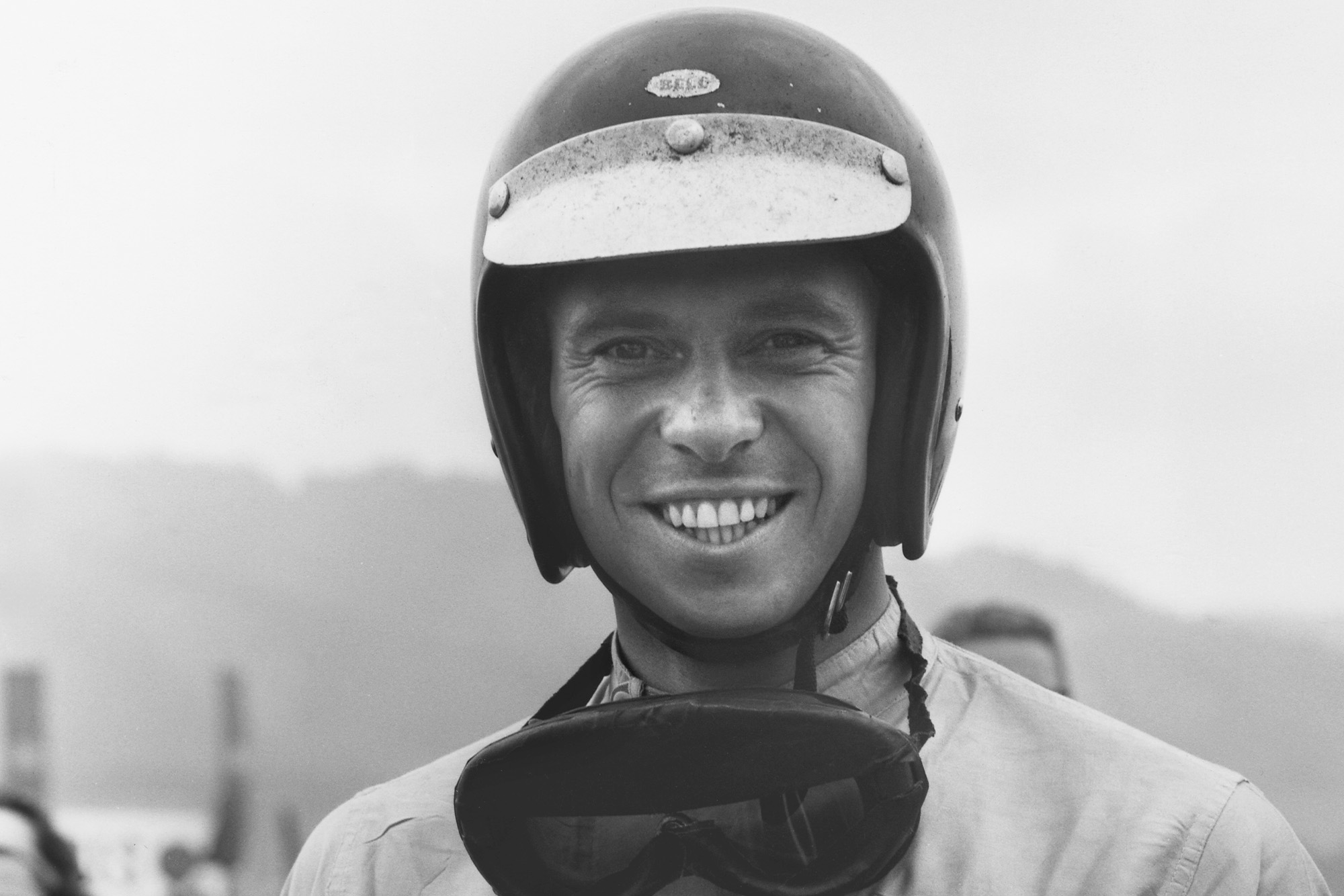 Jim Clark shows his delight at yet another victory.