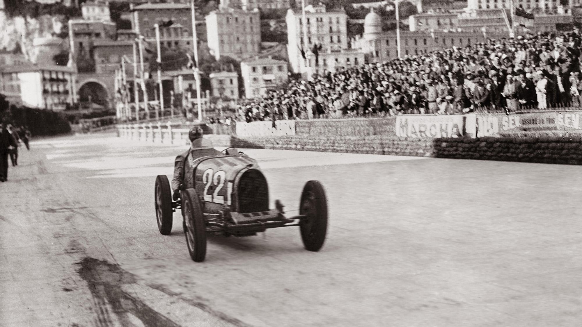 Louis Chiron in the 1931 Monaco Grand Prix