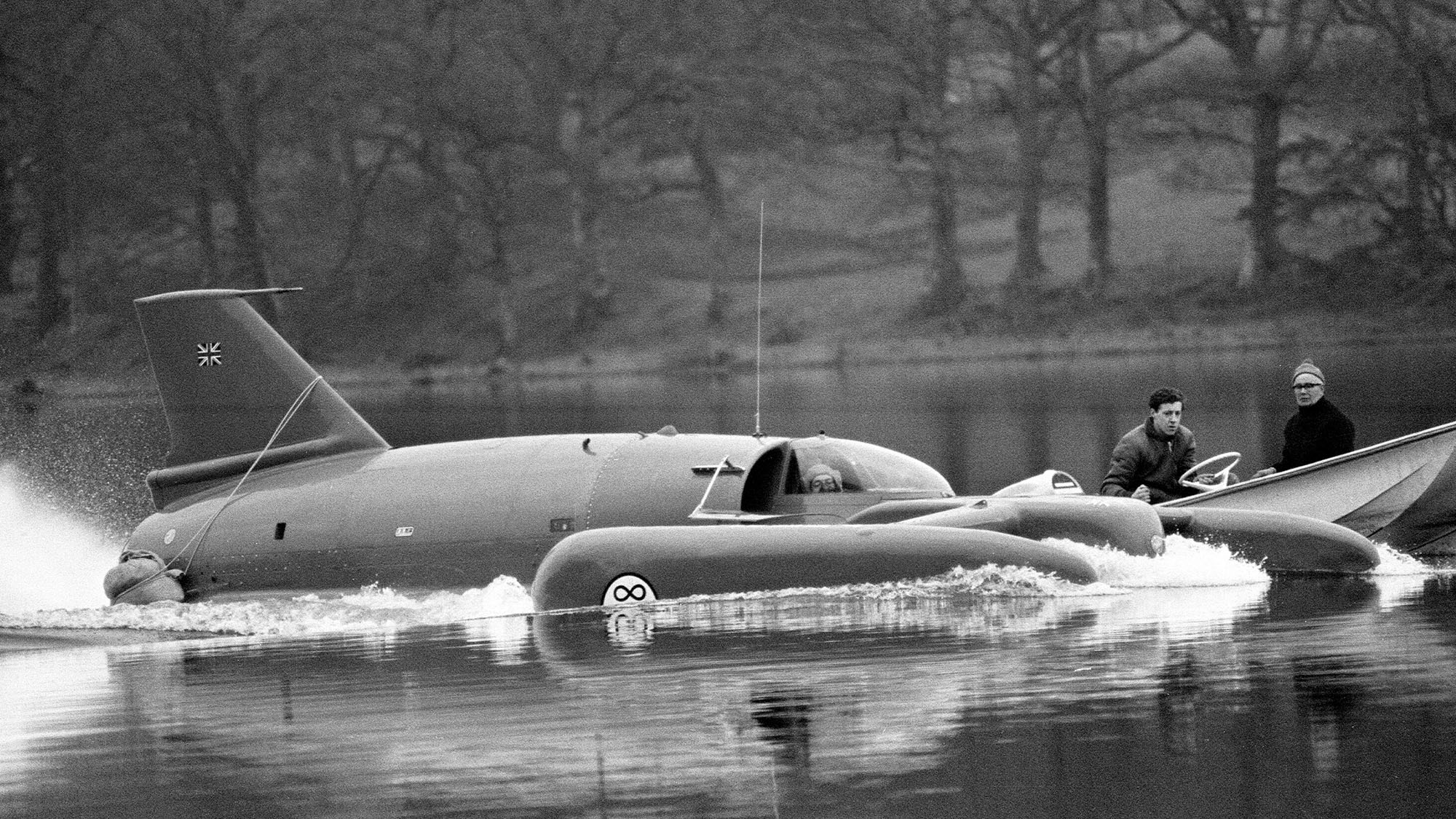 4th November 1966. Campbell was killed instantly on 4th January 1967 whilst attempting to break his own water-speed record of 276mph. His craft 'Bluebird' flipped into the air at around 300mph.