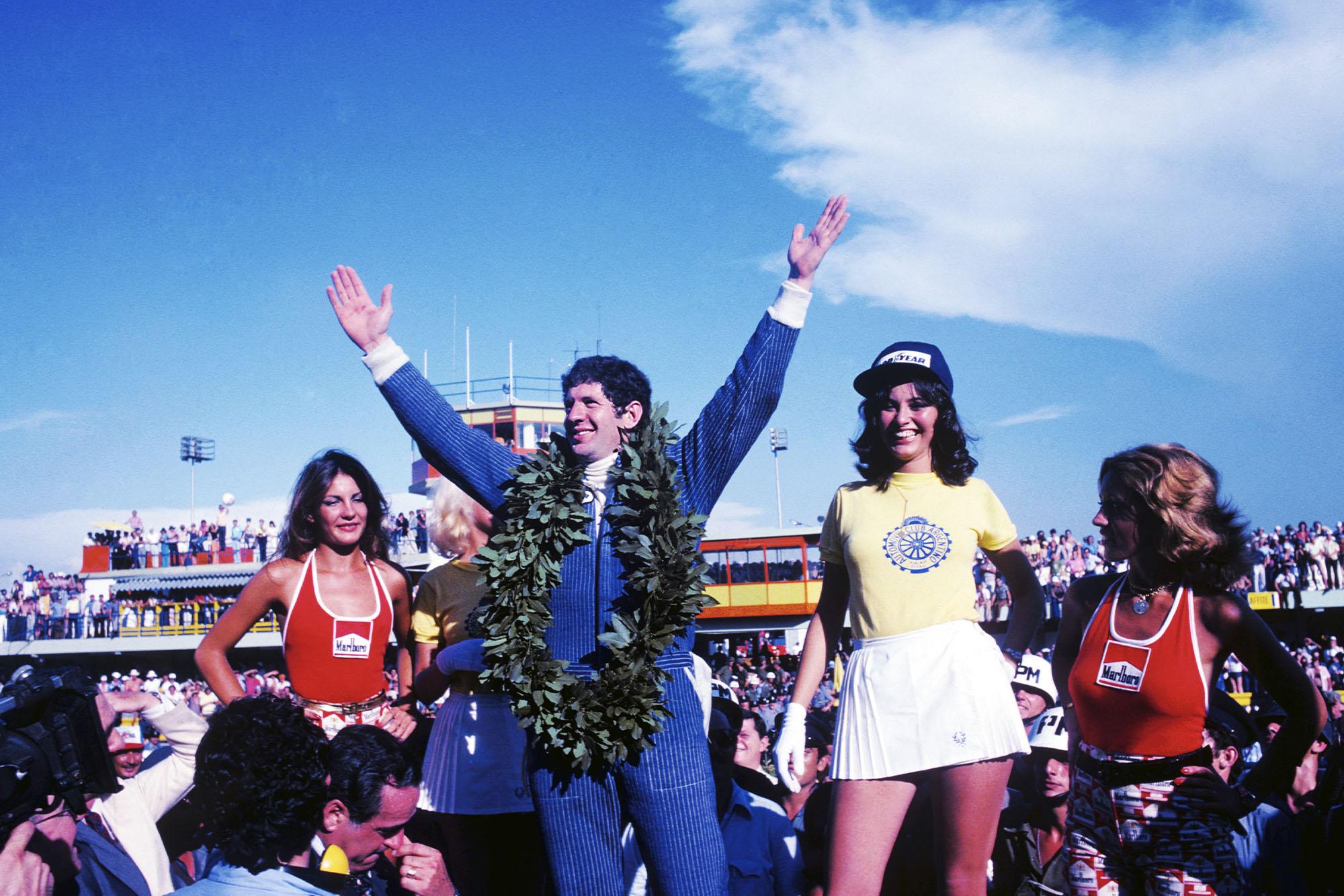 1977 Argentine GP podium