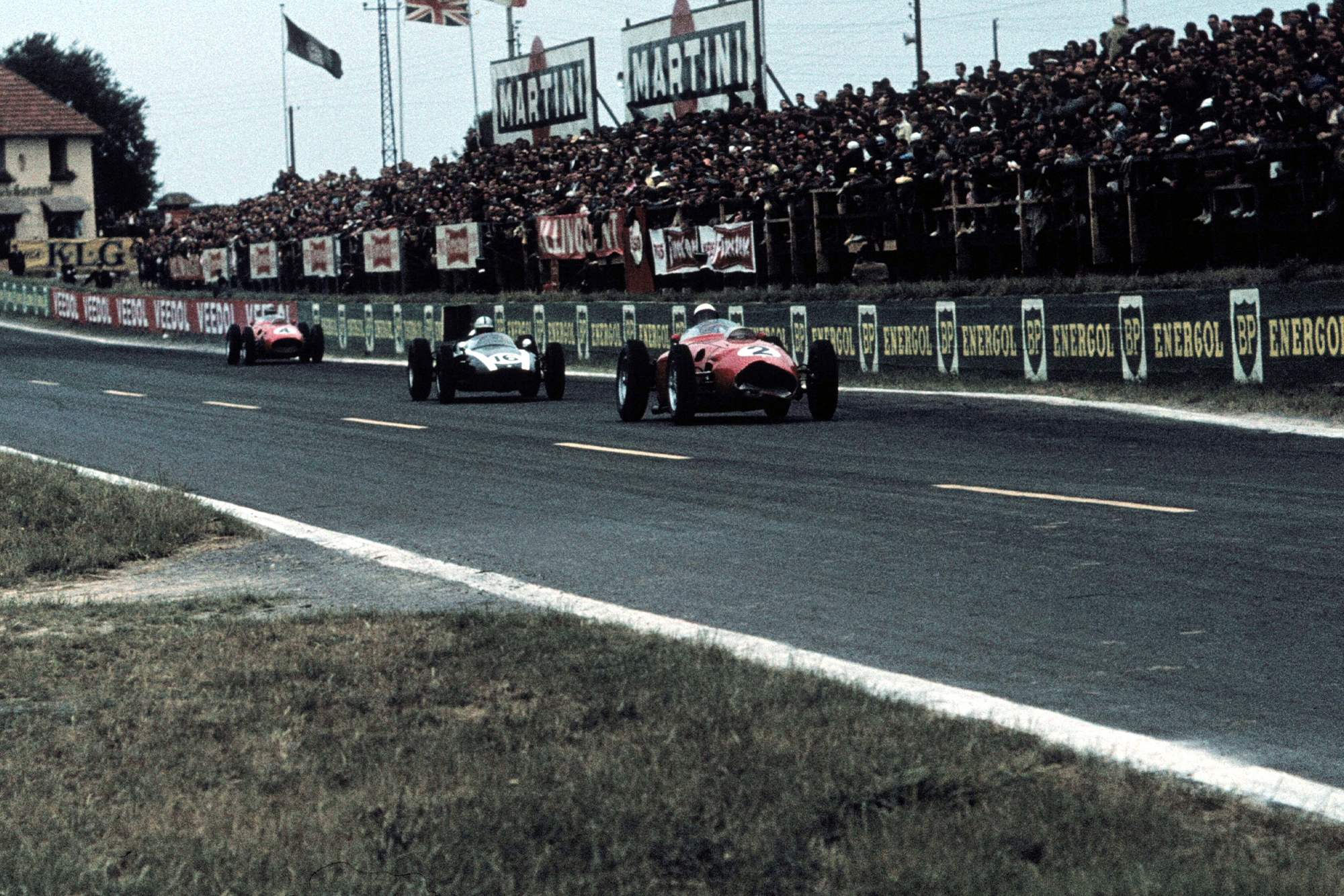 Hill led until Brabham regained the lead on lap