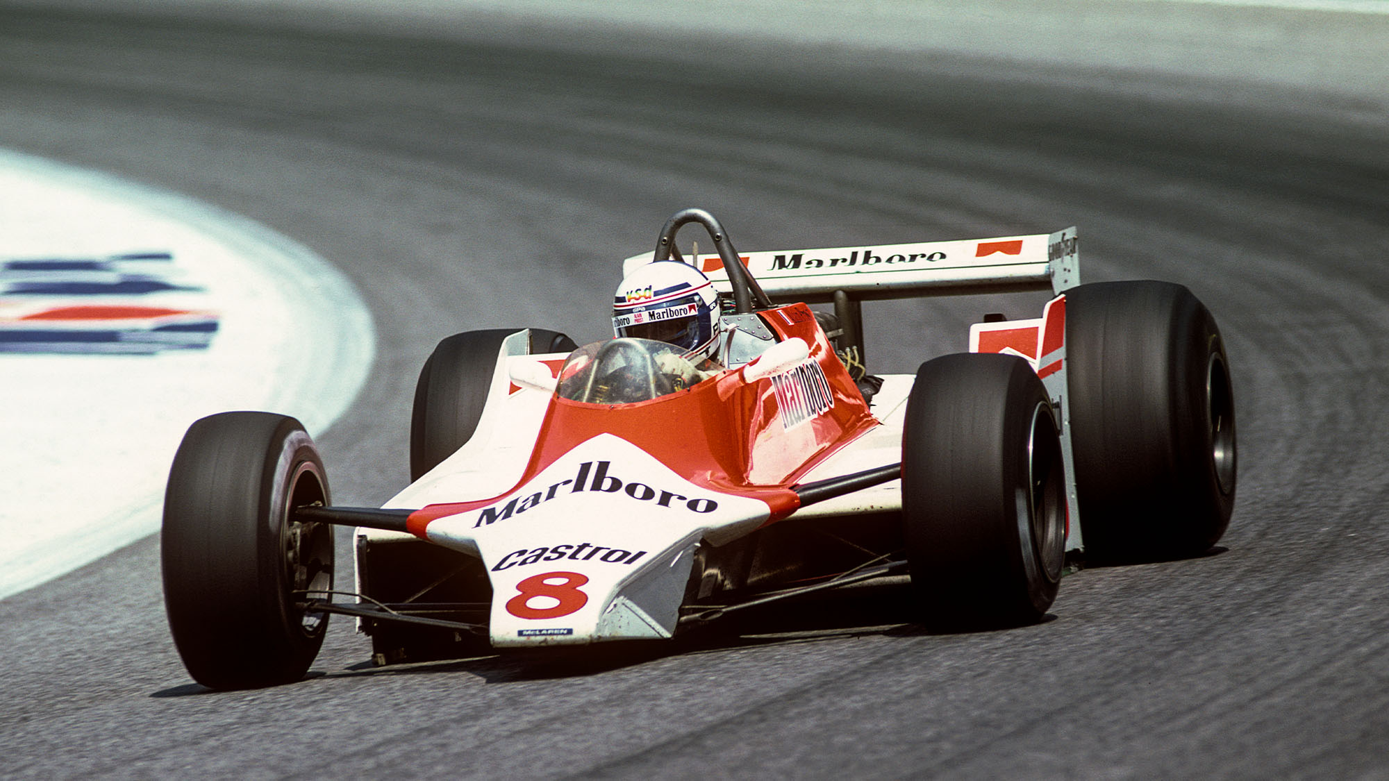 Alain Prost, McLaren-Ford M29C, Grand Prix of Austria, Osterreichring, 17 August 1980. (Photo by Bernard Cahier/Getty Images)