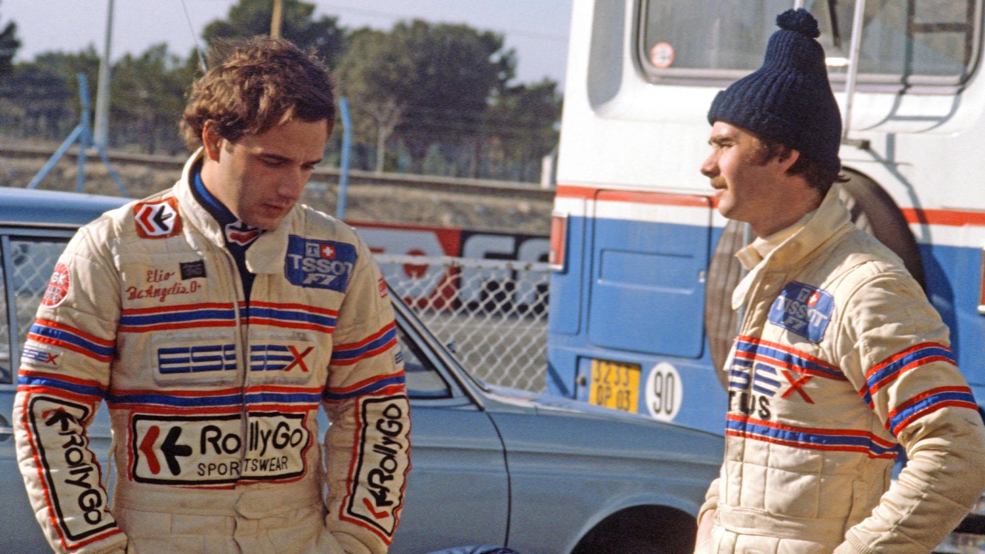 De Angelis Mansell Lotus 1981