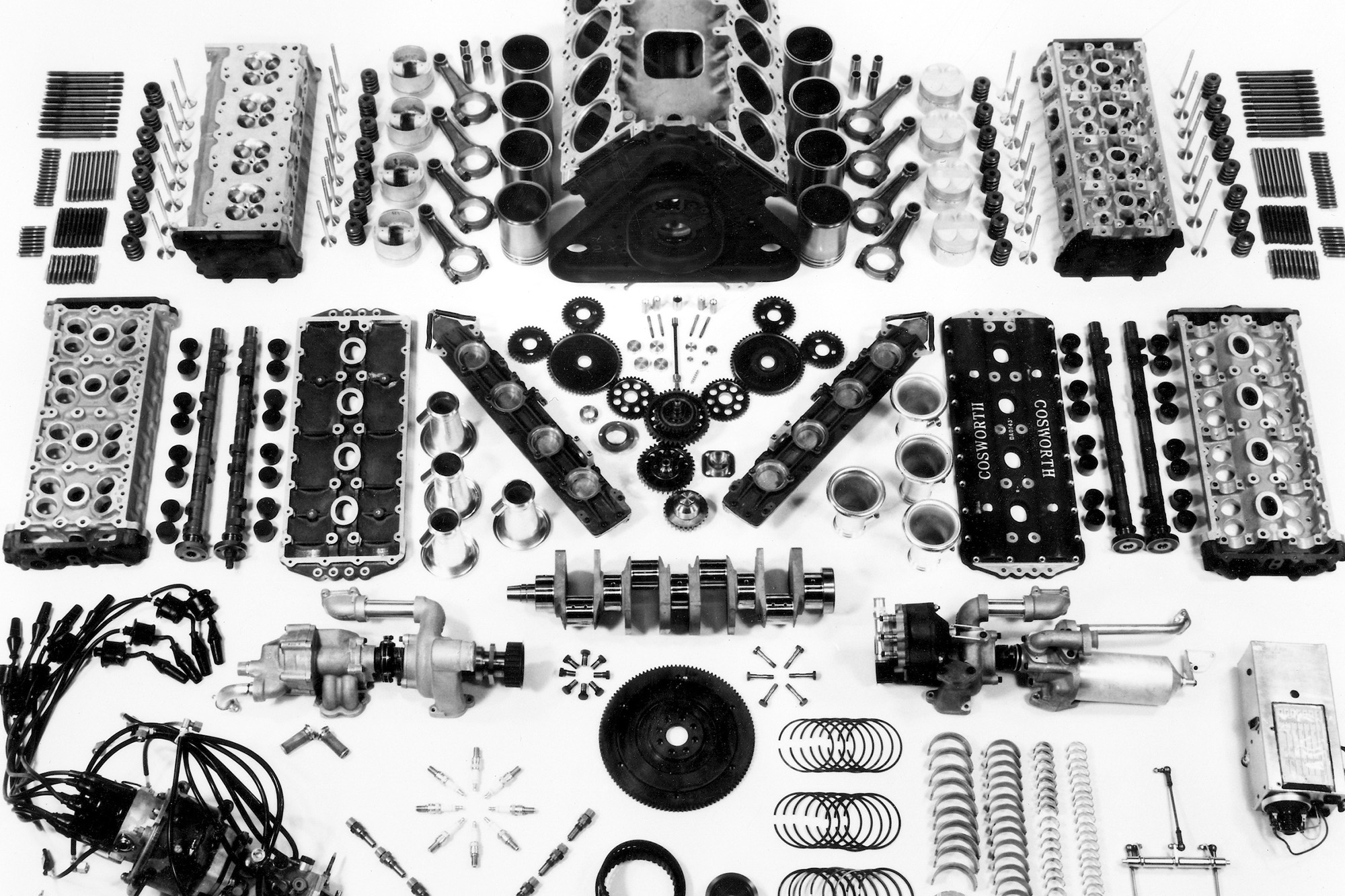 Cosworth DFV in parts