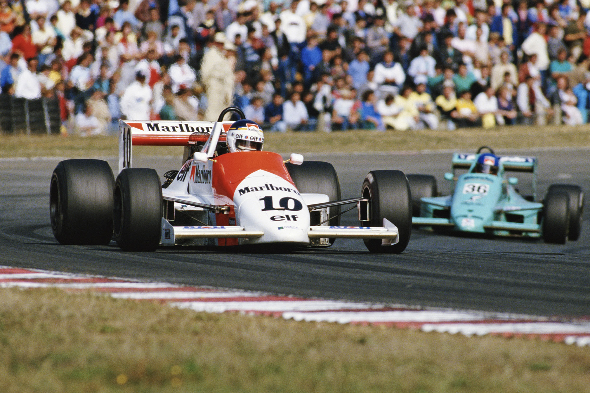 Michel Ferte racing at Le Mans in the 1986 F3000 championship