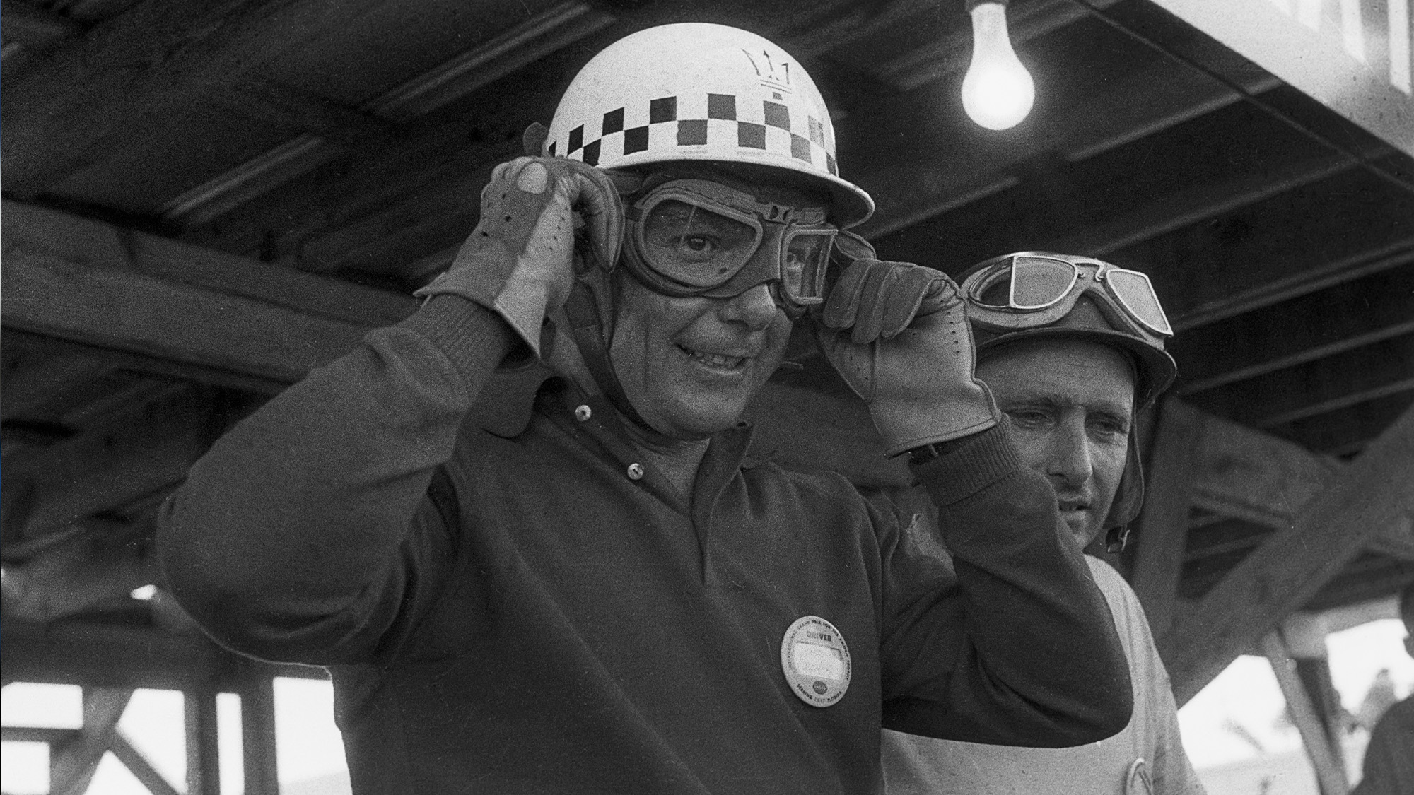 Jean Behra and Juan MAnuel Fangio at the 1957 12 Hours of Sebring