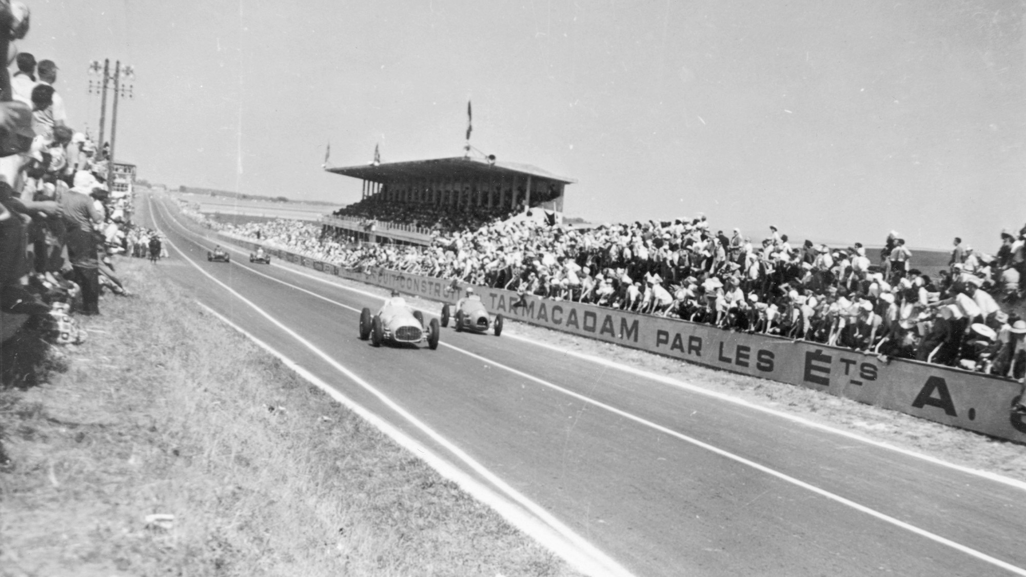 Louis Rosier and Jean Behra in the 1952 Marne Grand Prix