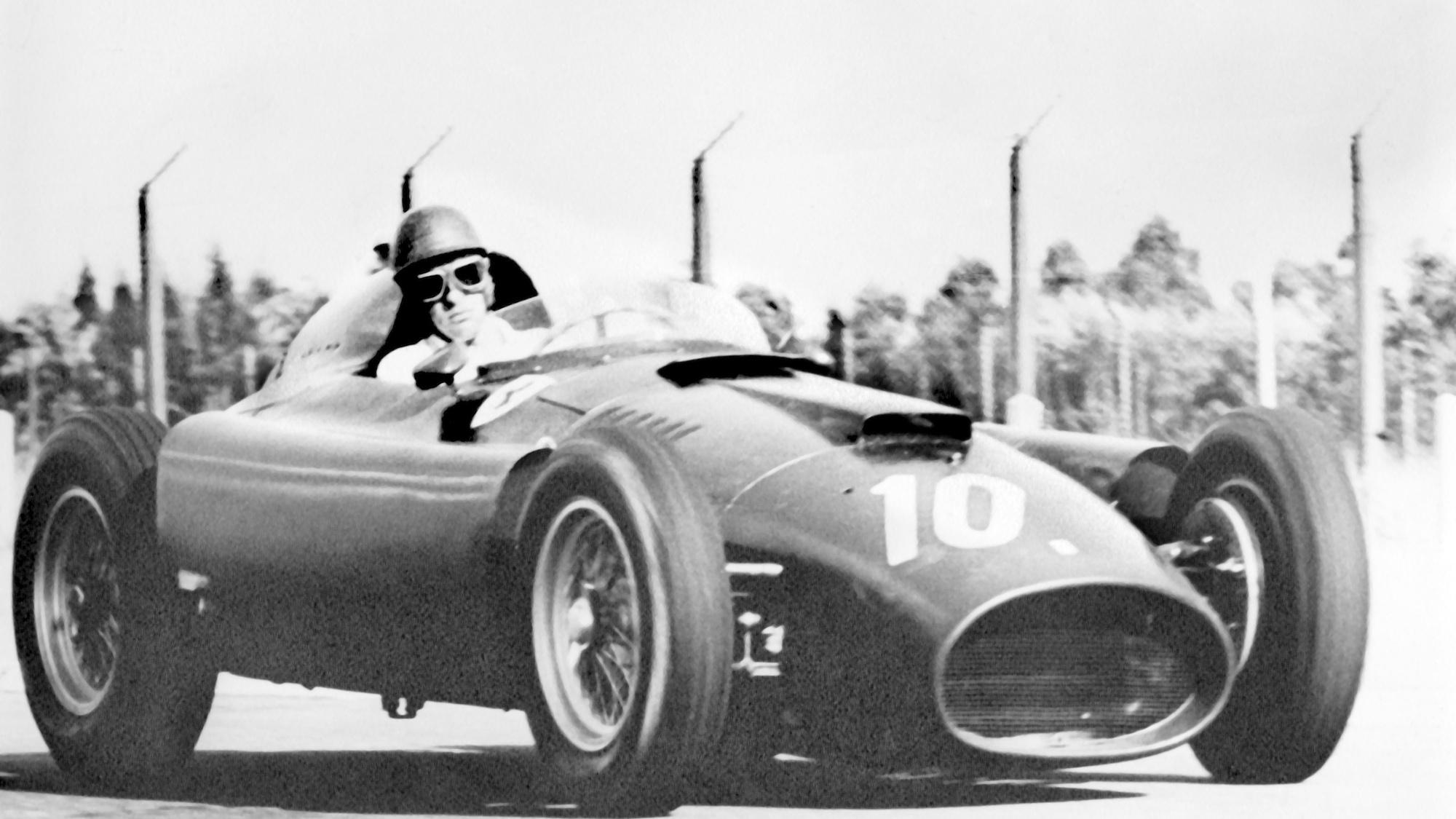 Peter Collins in the 1957 Argentinian Grand Prix for Ferrari