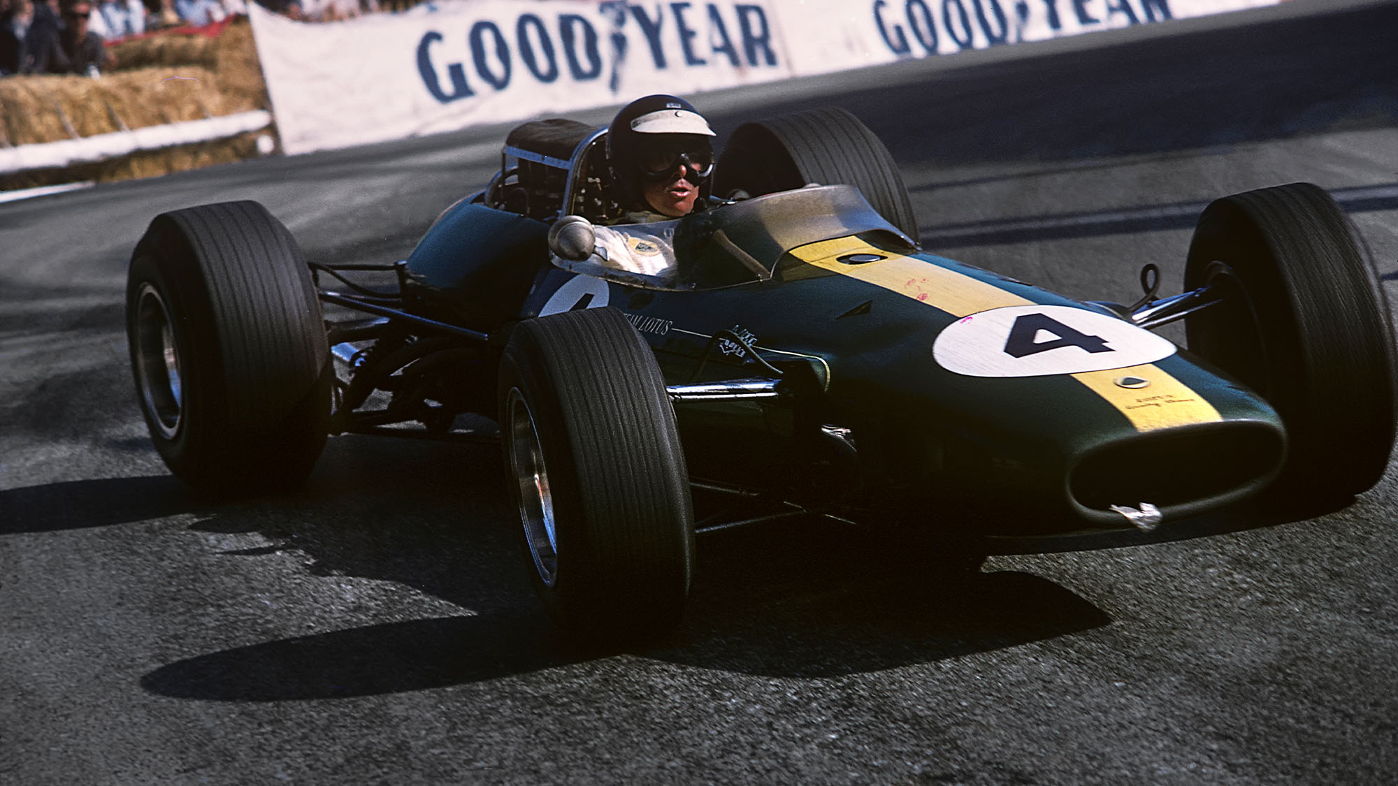 Jim Clark, Lotus 33 Coventry Climax, Grand Prix of Monaco, Monaco, 22 May 1966. (Photo by Bernard Cahier/Getty Images)
