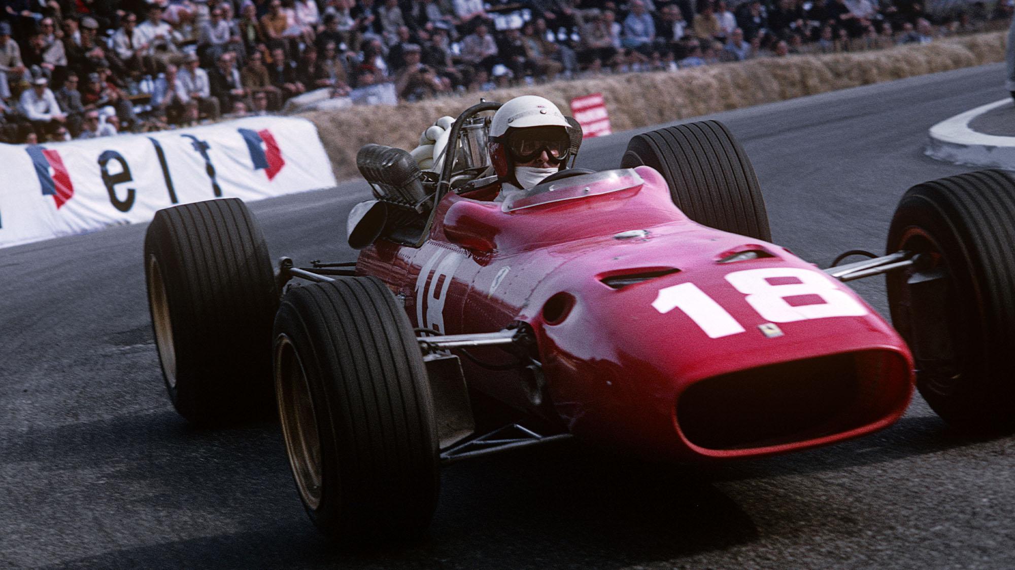 Lorenzo Bandini, Ferrari 312, Grand Prix of Monaco, Circuit de Monaco, 05 July 1966. (Photo by Bernard Cahier/Getty Images)
