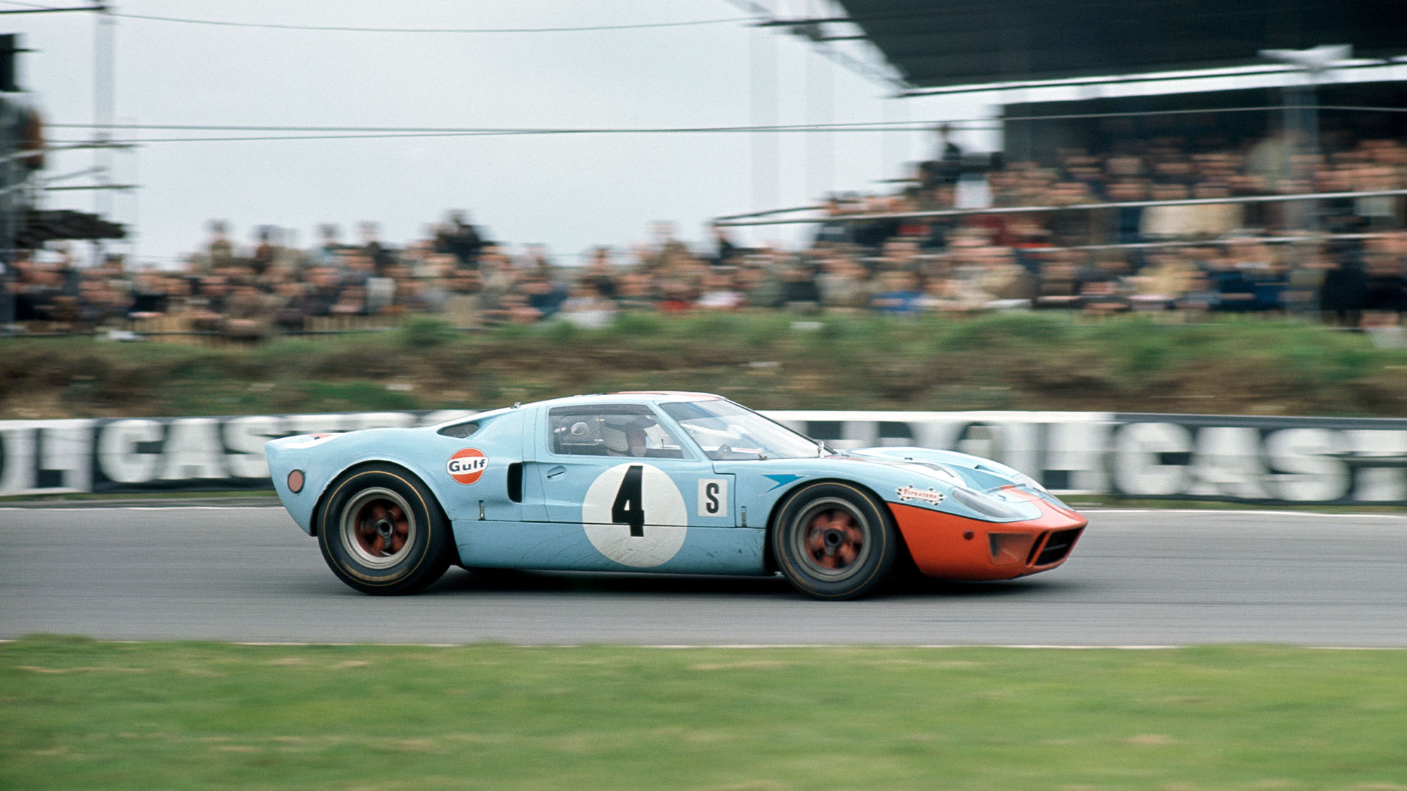 Brian Redman of Great Britain and Jacky Ickx of Belgium driving the Ford GT40 during the The Brands Hatch Six Hours, BOAC International 500 World Championship Sports Car Race at the Brands Hatch Circuit in Longfield, England on 7th April, 1968. (Photo by Ed Lacey/Popperfoto via Getty Images/Getty Images)