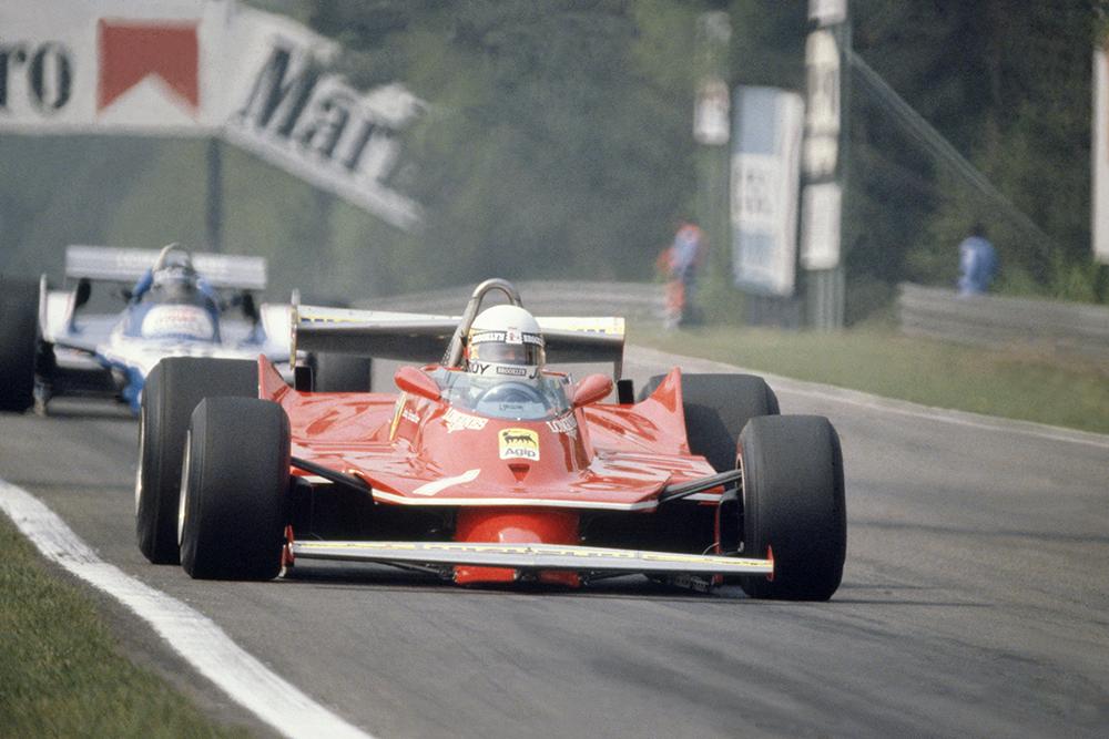 Jody Scheckter in his Ferrari 312T5.