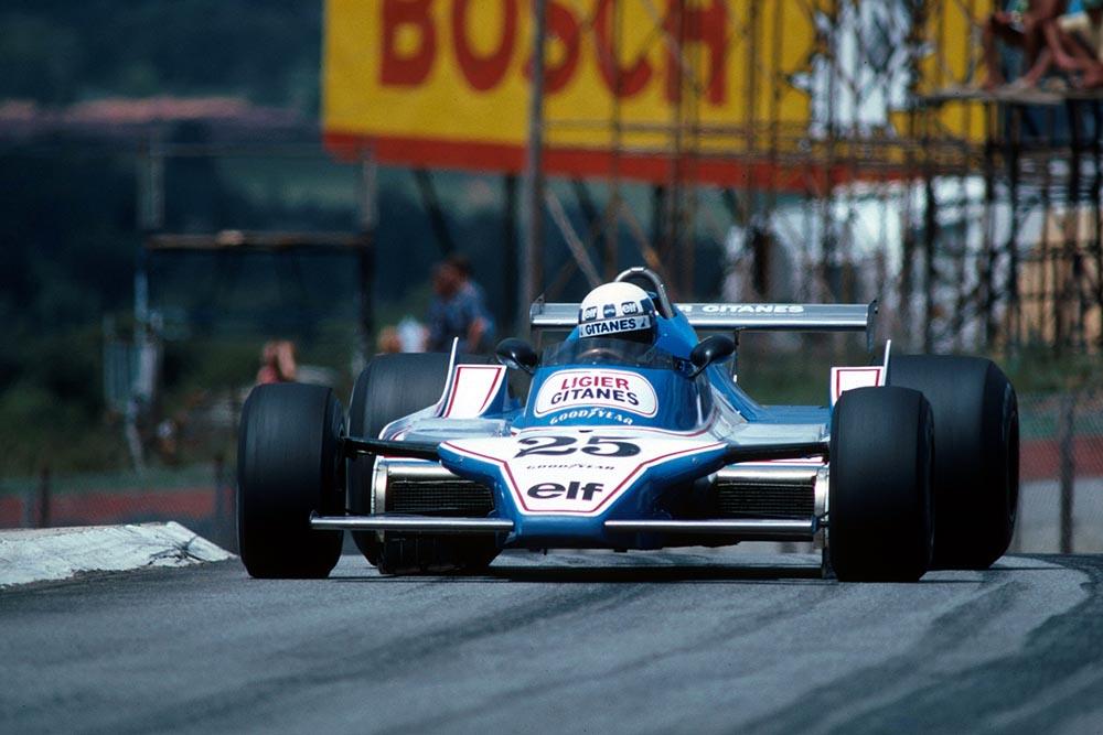 Didier Pironi in a Ligier JS11/15.