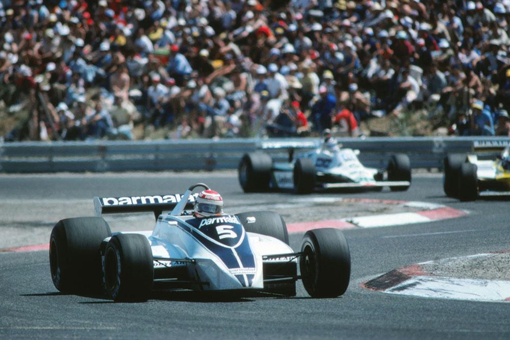 Nelson Piquet in a Brabham BT49.