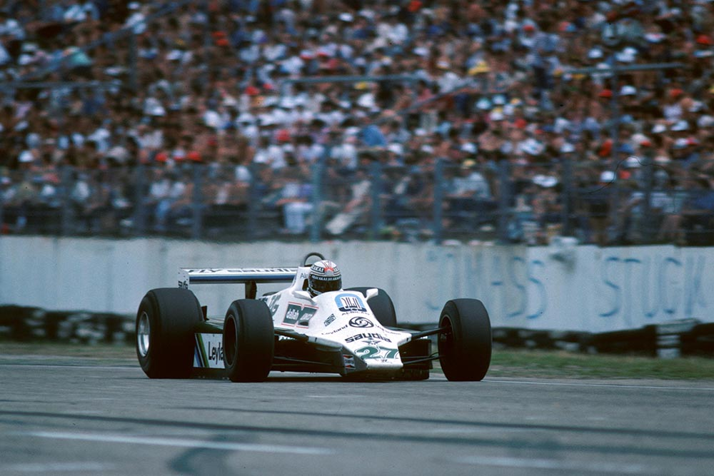 Alan Jones in his Williams FW07B finished third after leading for thirteen laps.