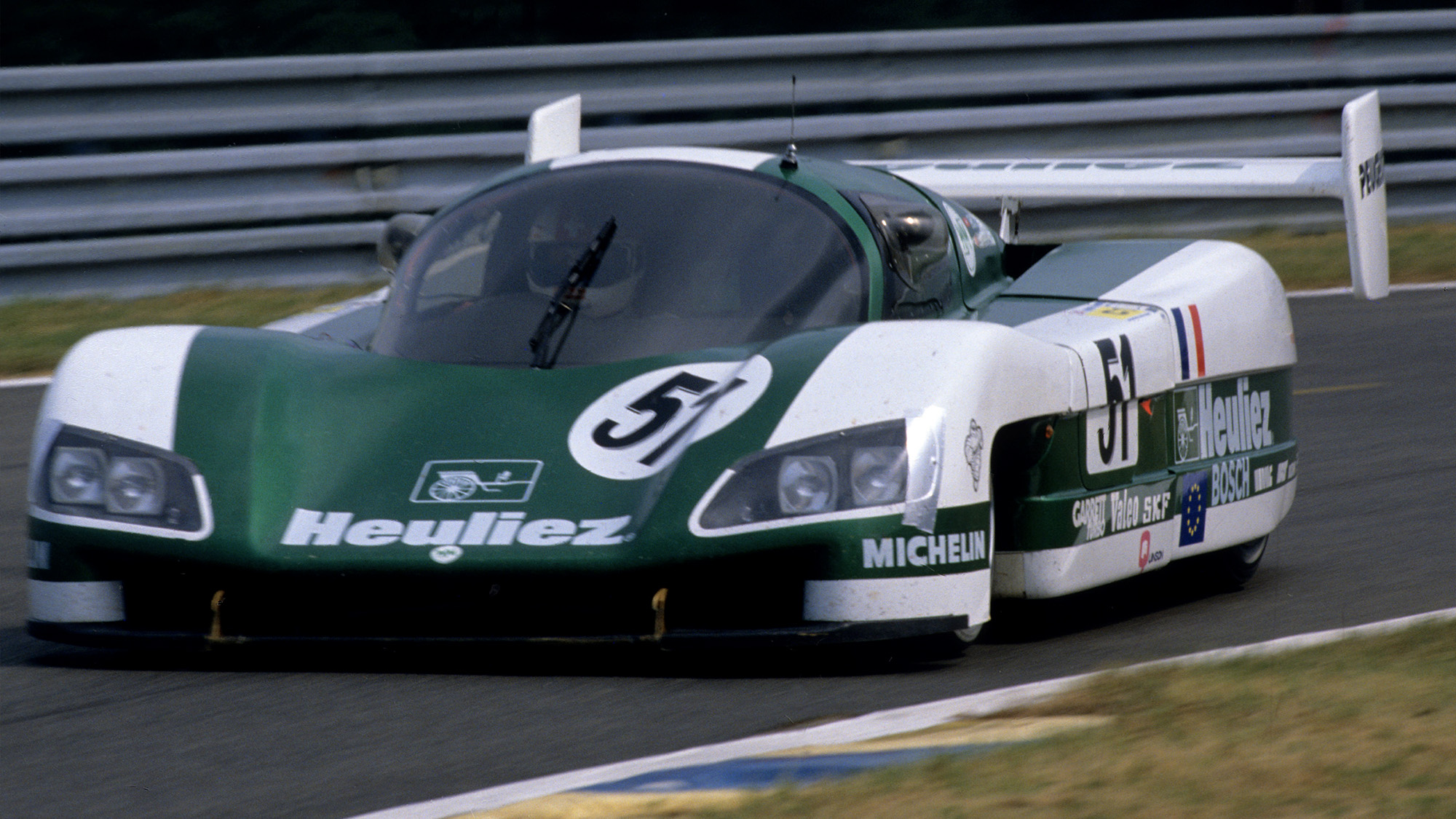 Claude Haldi Roger Dorchy and Jean Daniel Raulet WM P88 in the 1988 Le Mans 24 Hours