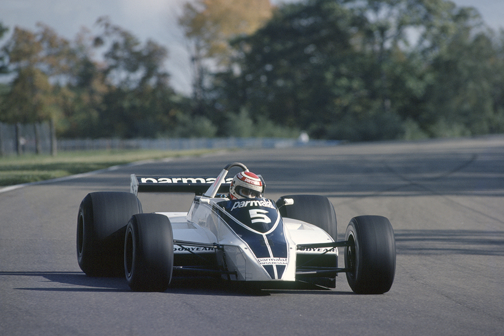 Nelson Piquet in his Brabham BT49-Ford Cosworth.