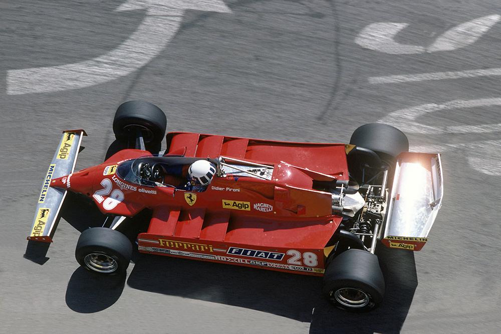 Didier Pironi in a Ferrari 126C.