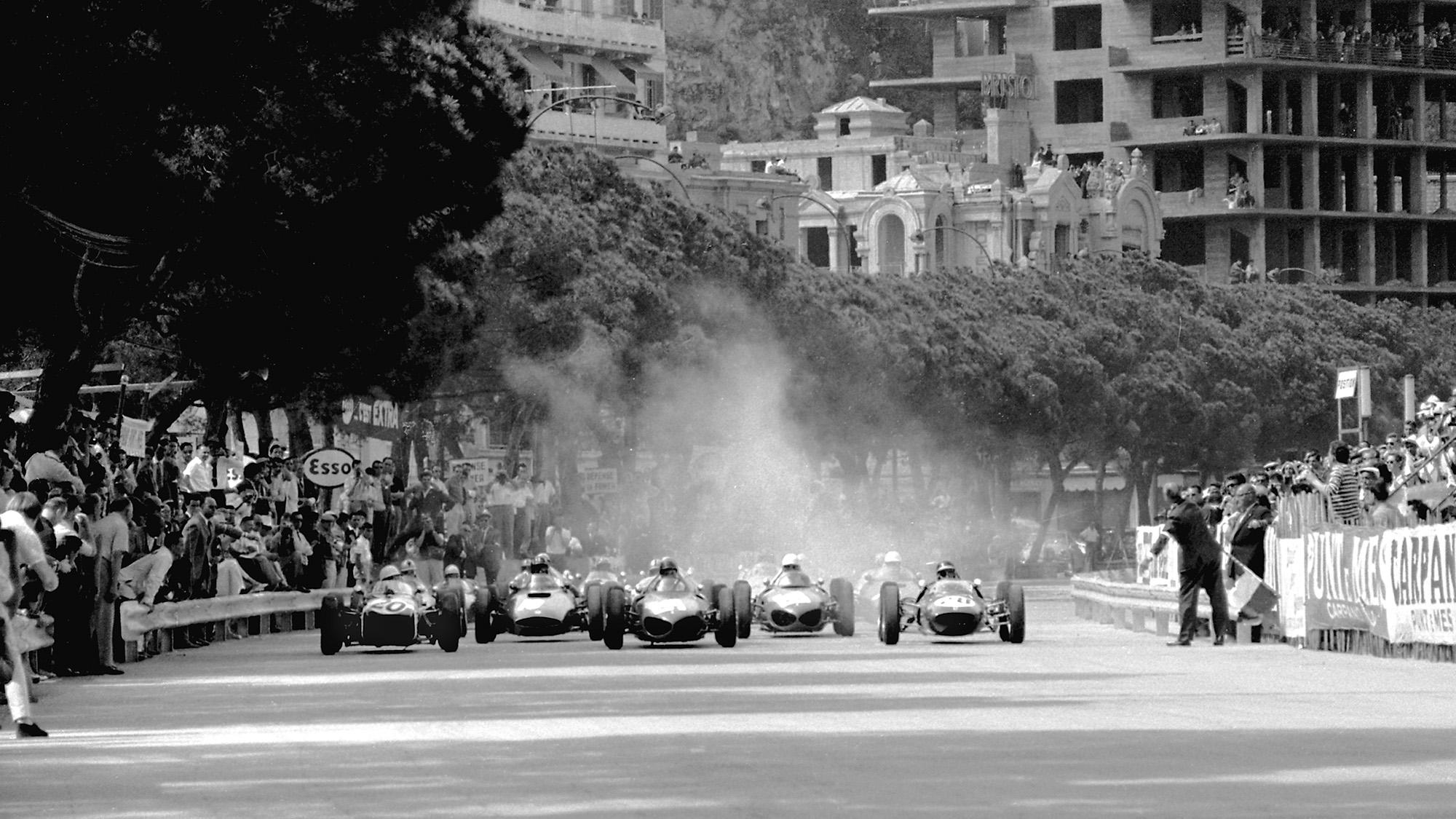 Start of the 1961 Monaco Grand Prix
