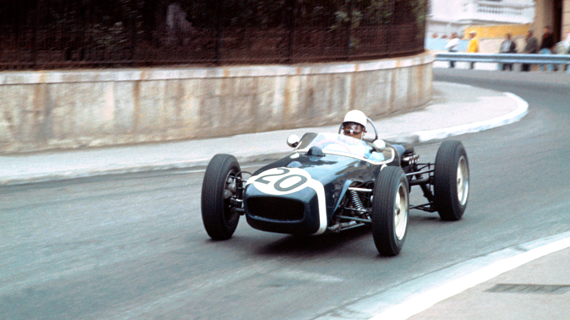 Stirling Moss leads the 1961 Monaco Grand Prix