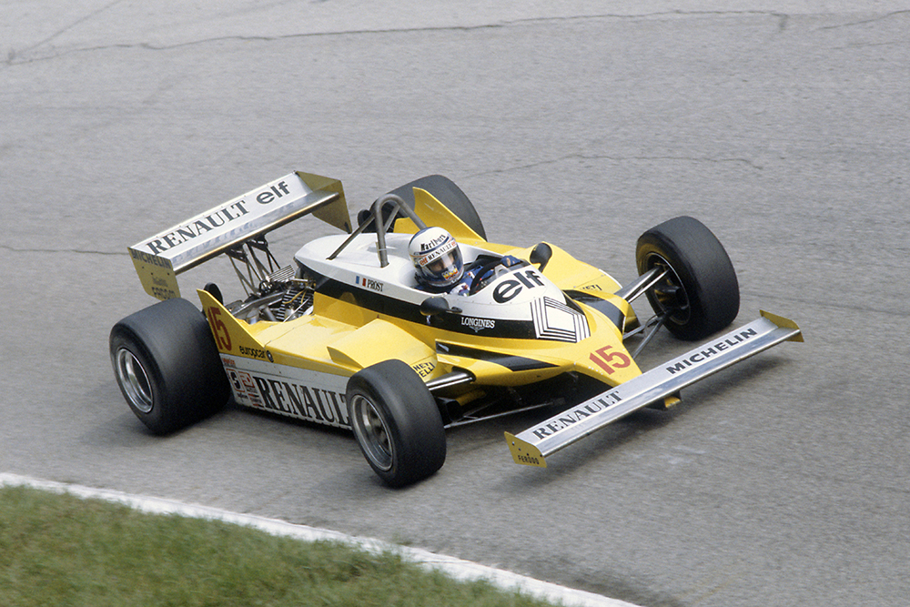 Alain Prost in his Renault RE30.