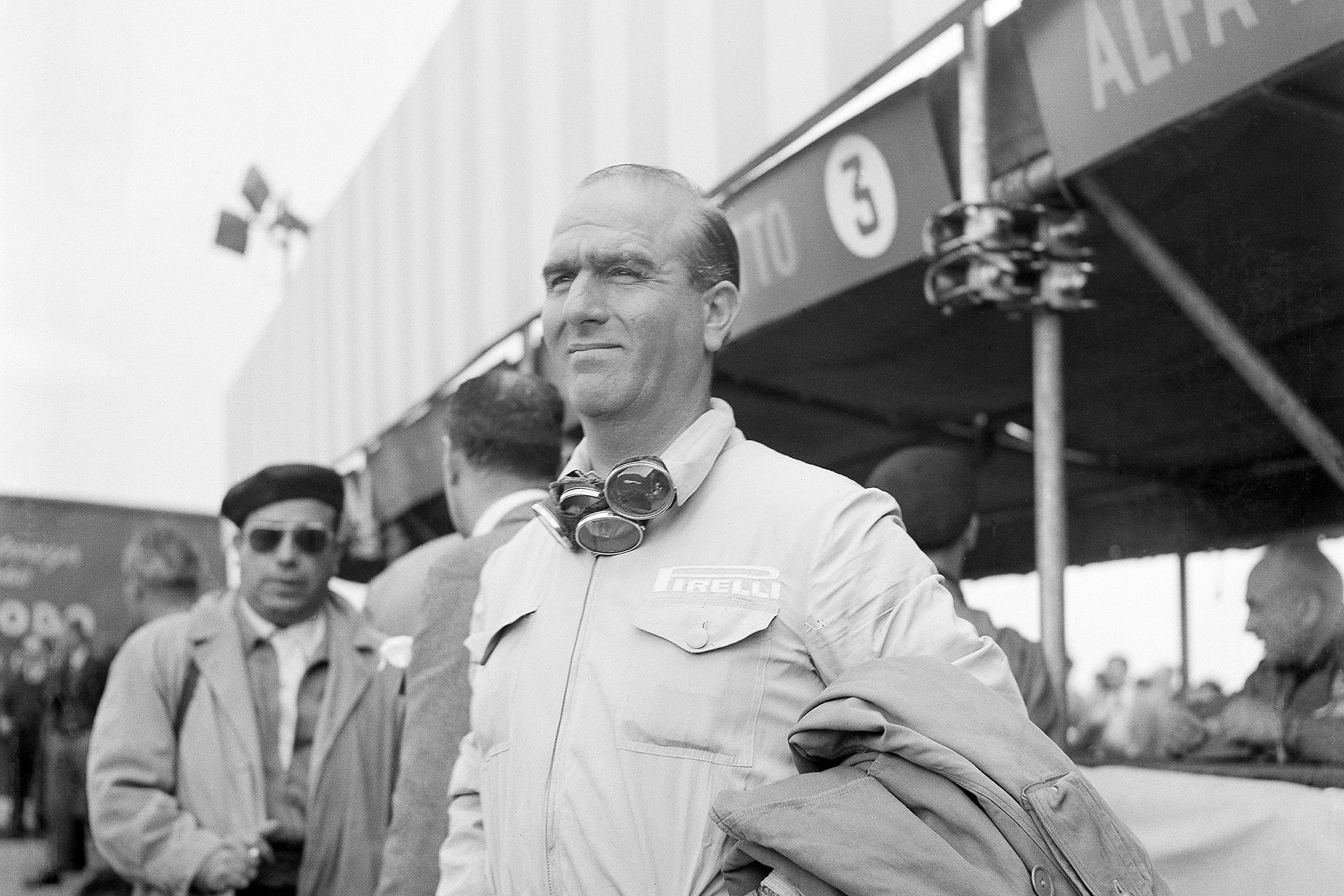 Giuseppe Farina at Silverstone during the 1950 British Grand Prix weekend