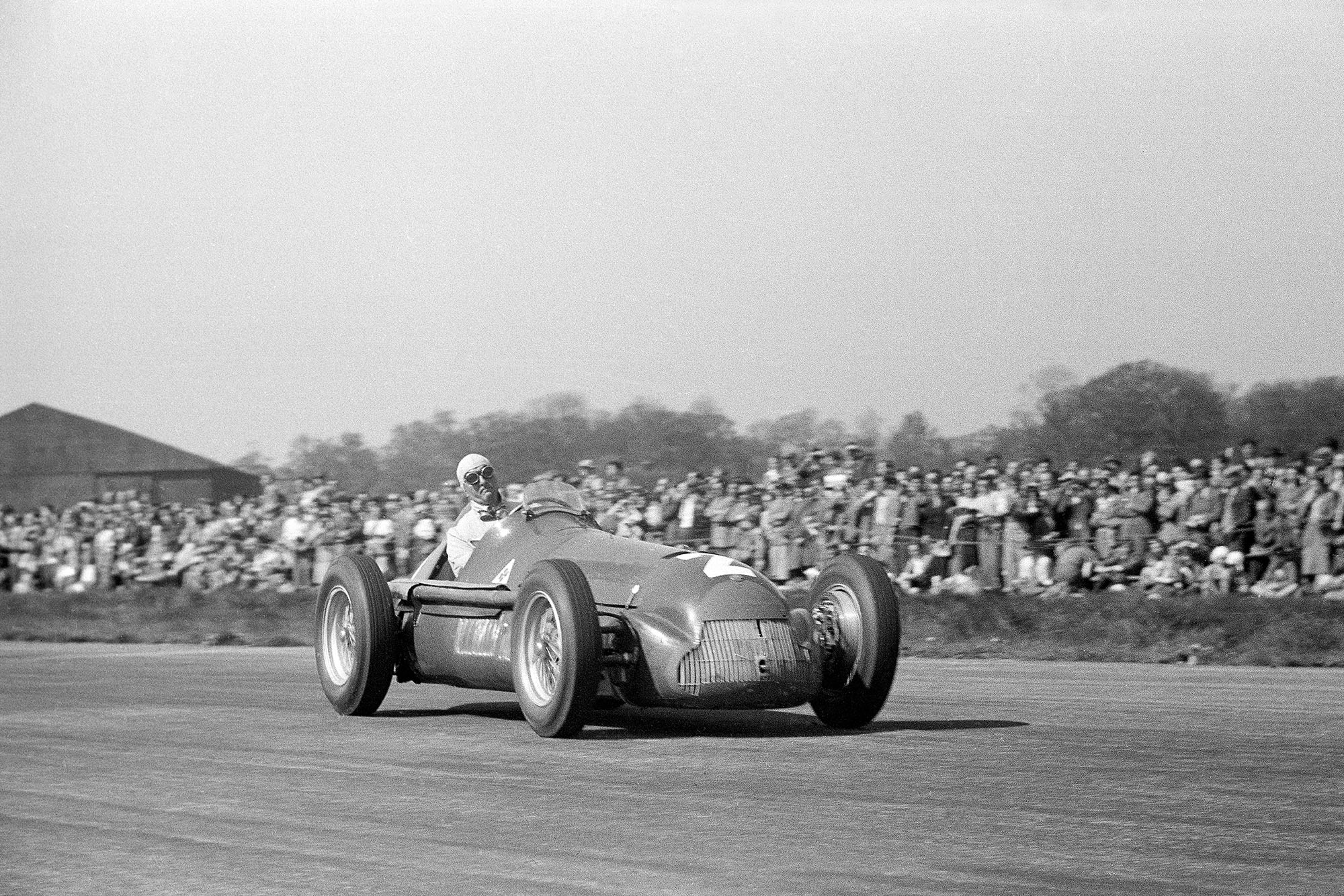 Giuseppe Farina during the 1950 British Grand Prix held at Silverstone