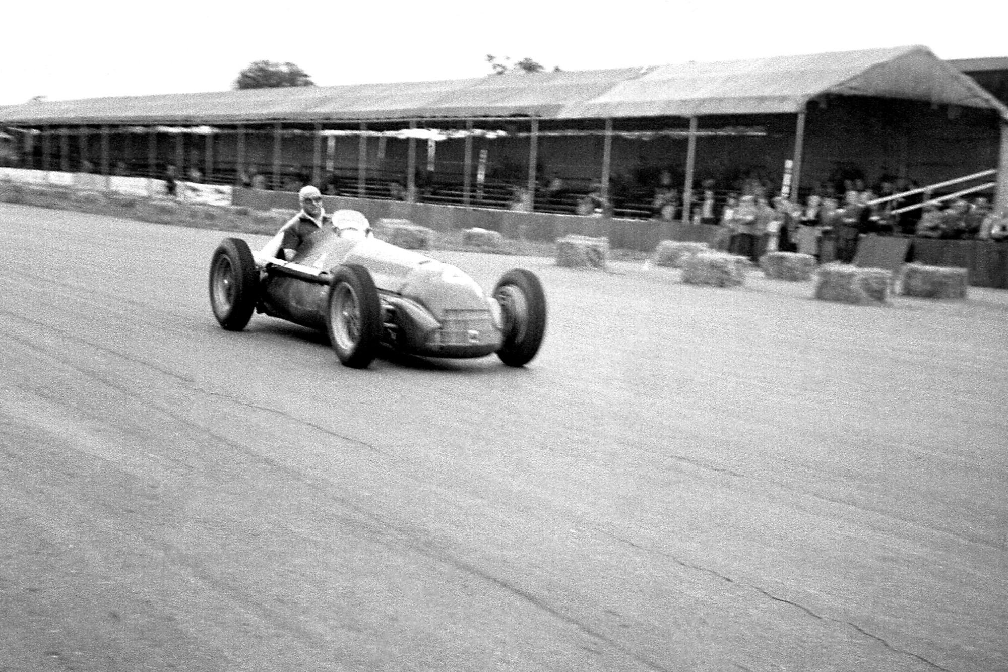 Luigi Fagiolo at the 1950 British Grand Prix at Silverstone