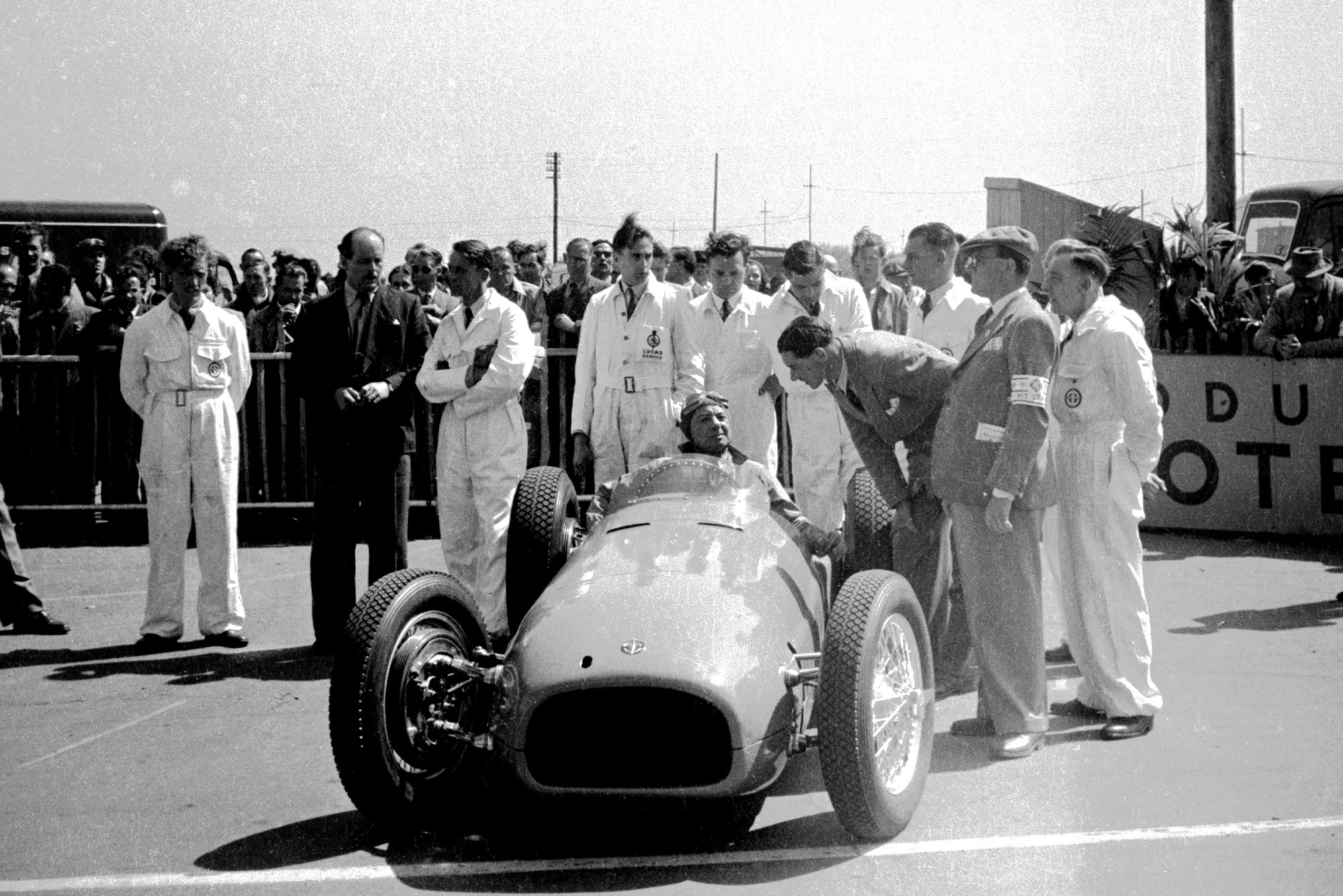 Raymond Mays in a BRM V16 at the 1950 British Grand Prix