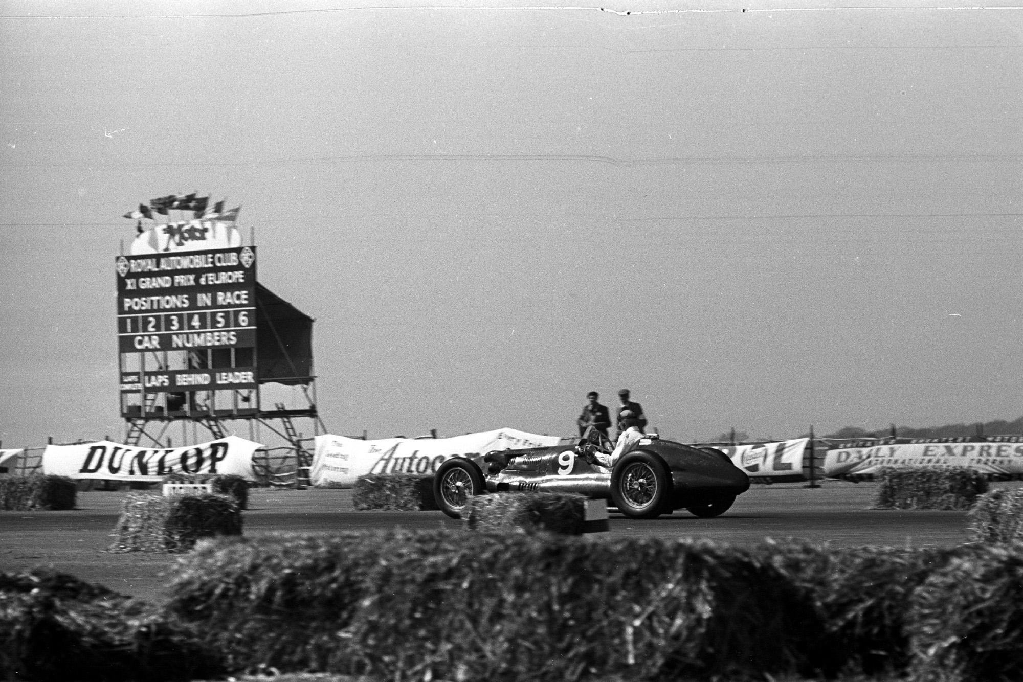 An E-type ERA at the 1950 British Grand Prix at Silverstone
