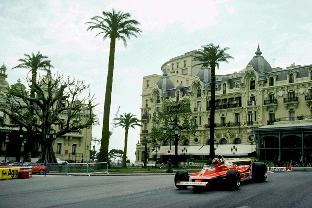 Gilles Villeneuve brought the difficult Ferrari 312T5 home in fifth place.
