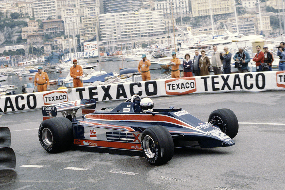 Elio de Angelis in his Lotus 81 Ford.