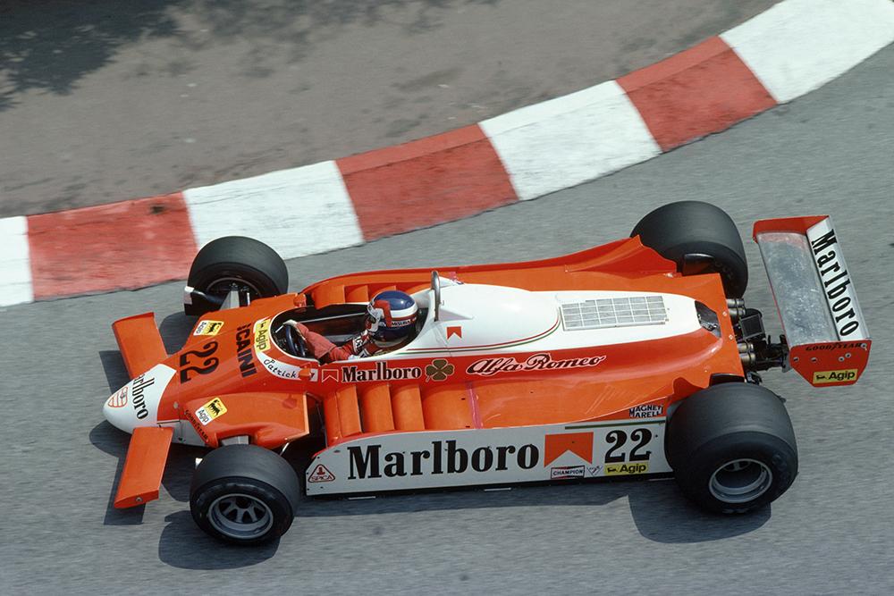 Patrick Depailler retirees in his Alfa Romeo 179B.