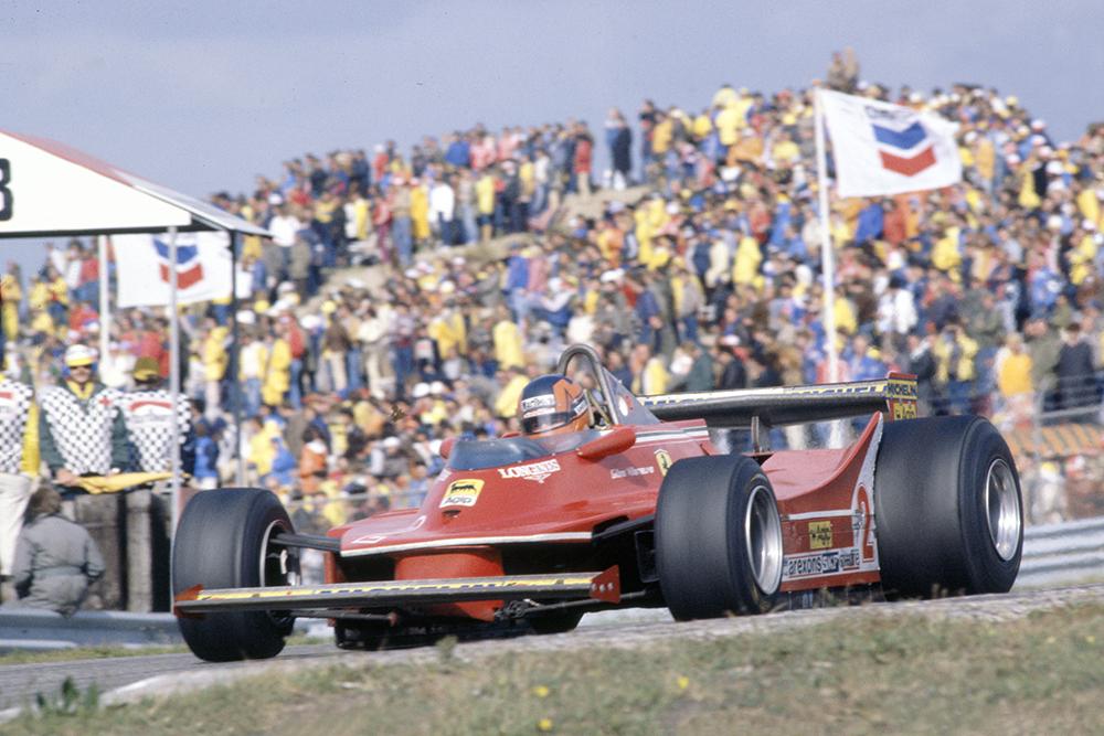 Gilles Villeneuve in his Ferrari 312T5.