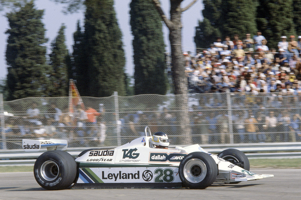 Carlos Reutemann in his Williams FW07B-Ford Cosworth.