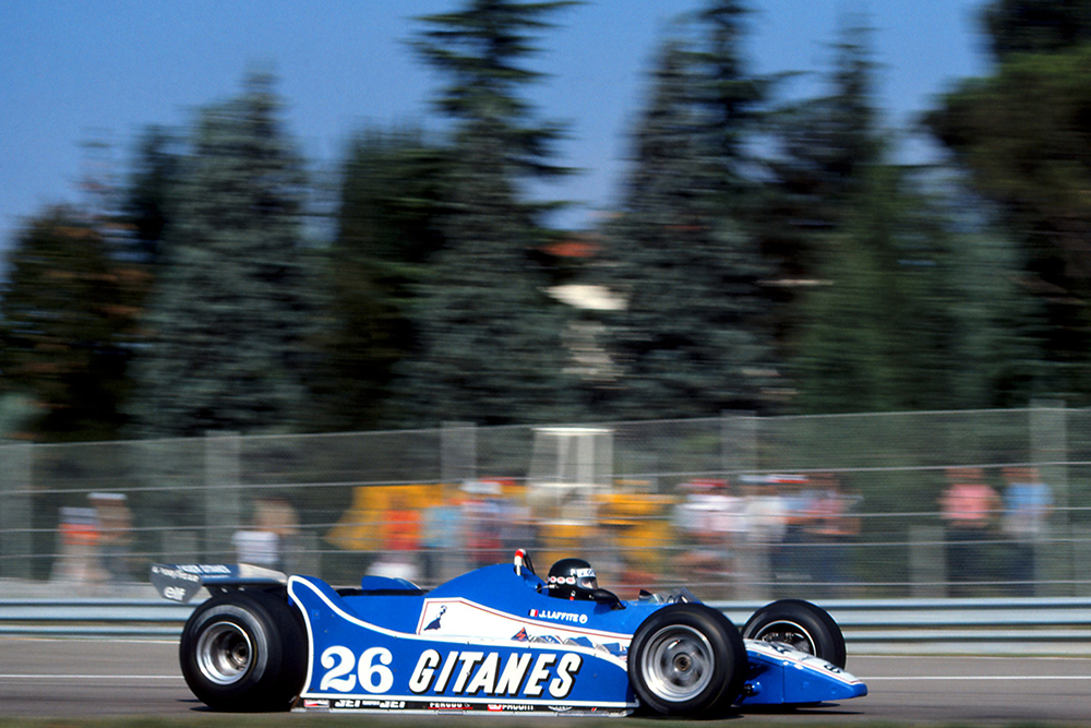 Jacques Laffite in his Ligier JS11/15.
