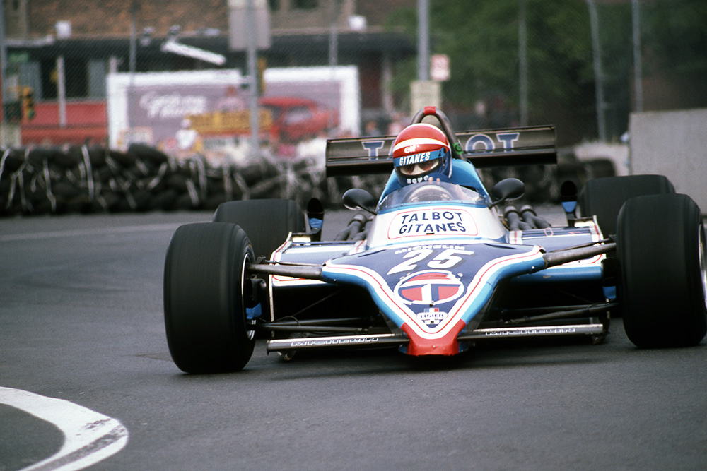Eddie Cheever in his Ligier JS17 who finished second.