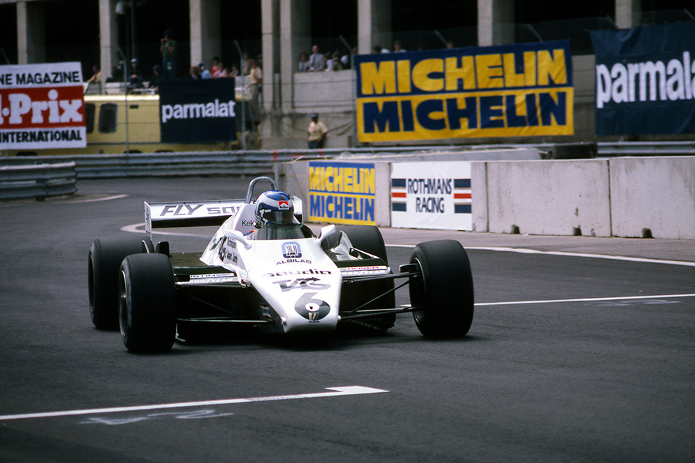 Keke Rosberg who finished 4th in his Williams FW08.