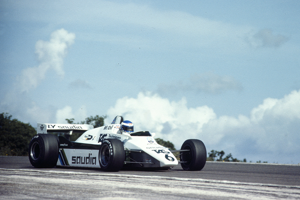 Keke Rosberg in his Williams FW08-Ford.