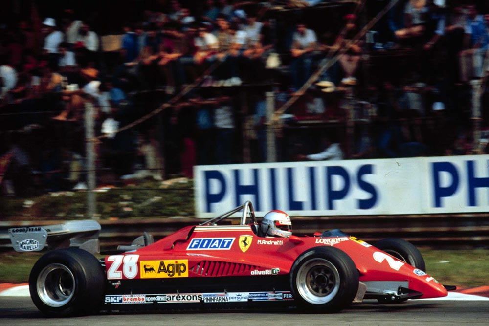 Mario Andretti finishes 3rd in the Ferrari in his pen-ultimate Formula 1 race.