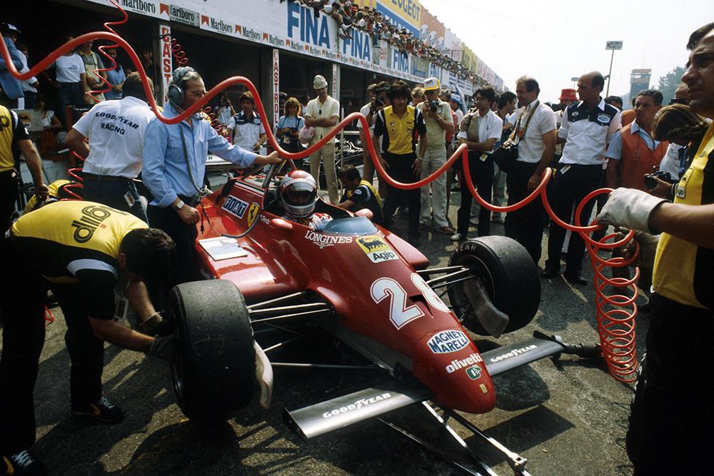 Mario Andretti's Ferrari 126CK in the pits.