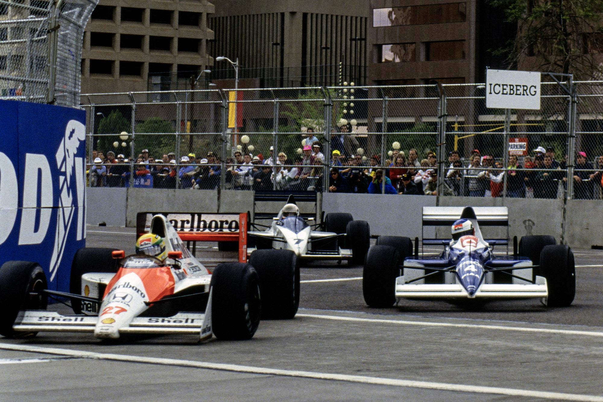 Ayrton Senna and Jean Alesi