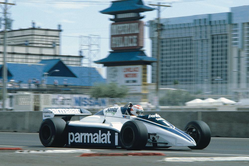 Nelson Piquet in his Brabham BT50-BMW.