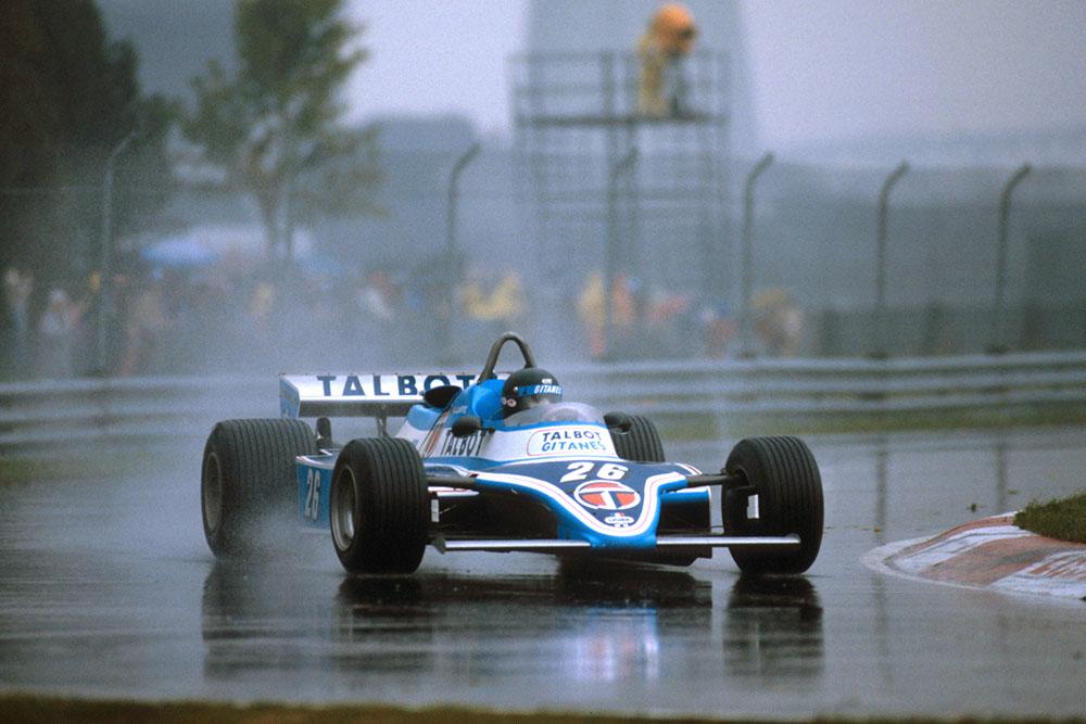 Jacques Laffite in his Ligier JS17 Matra.
