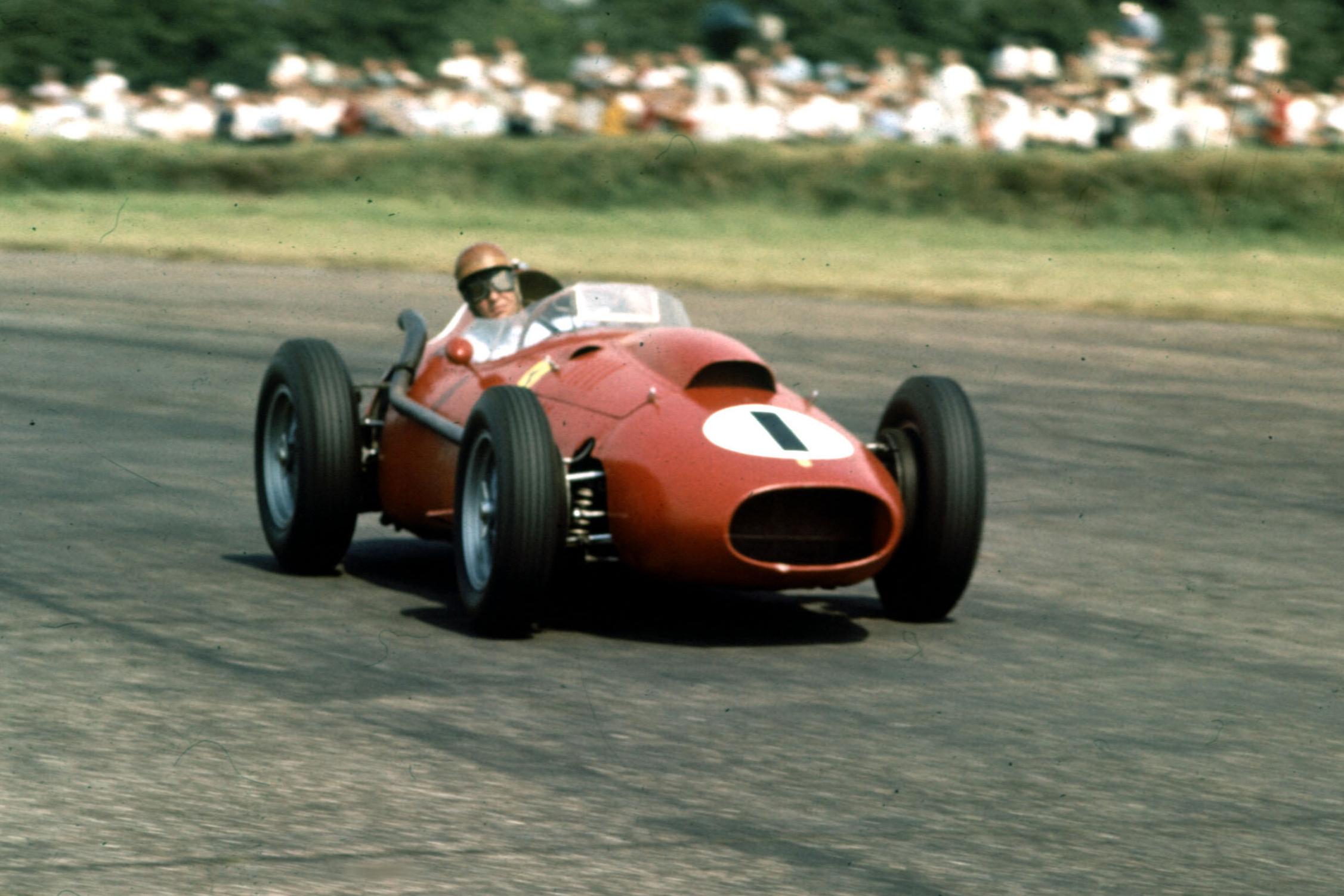 Peter Collins in his Ferrari Dino 246.