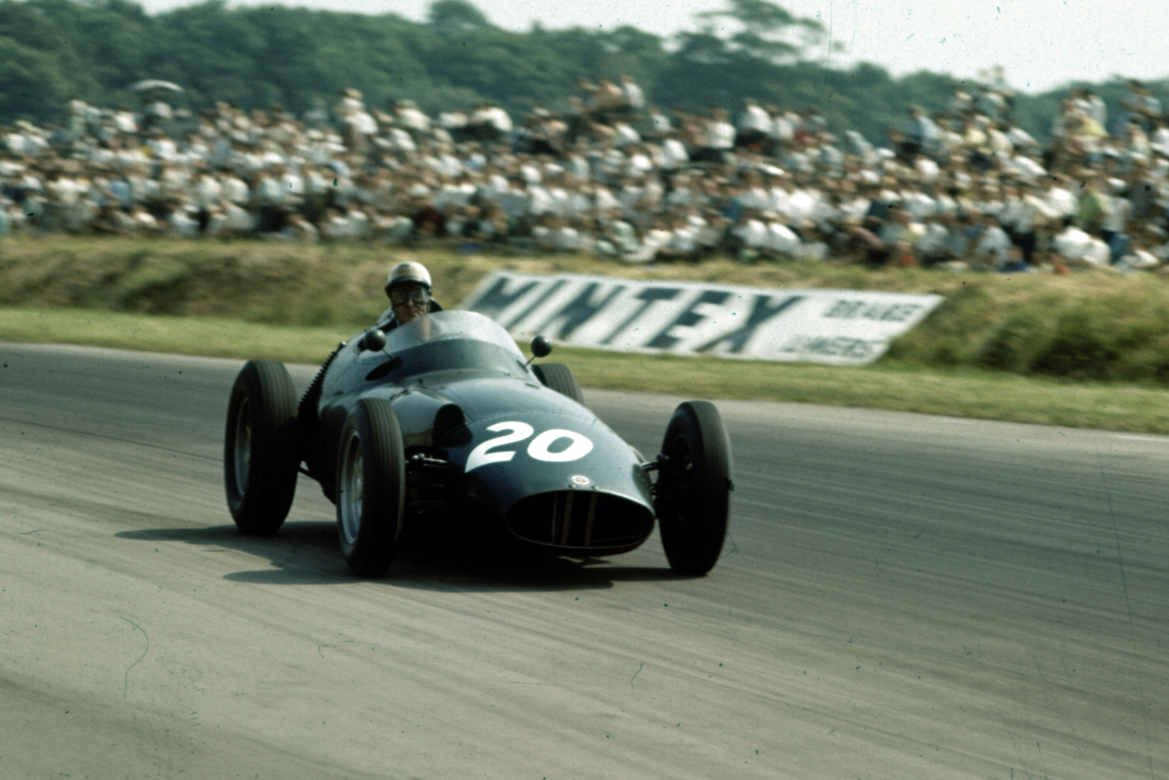 Harry Schell in his BRM P25.