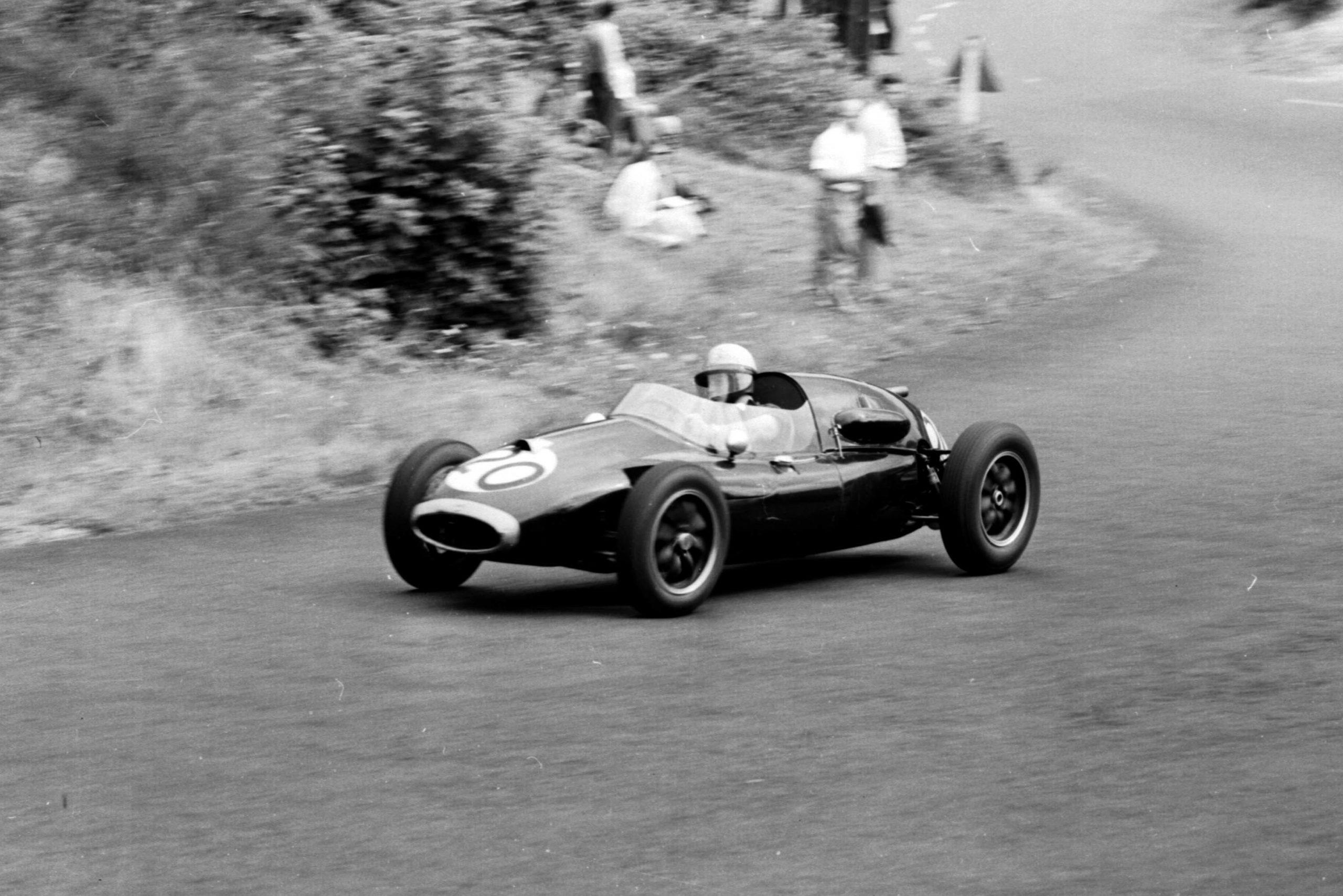 Bruce McLaren driving a Cooper T45-Climax