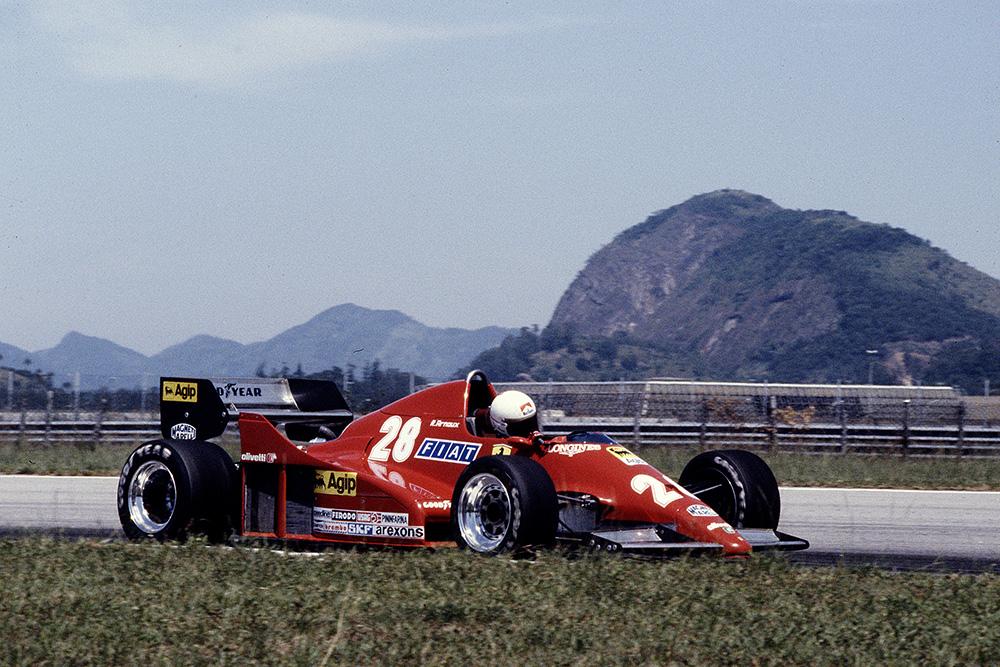Rene Arnoux, Ferrari 126C2B.